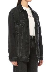 T by Alexander Wang oversized siyah kot ceket