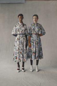 Çiçekli uzun elbise modelleri