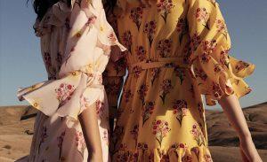 Çiçekli kadın elbise