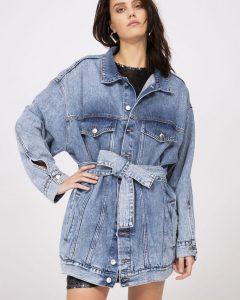 MCQ Alexander McQueen kadın denim ceket