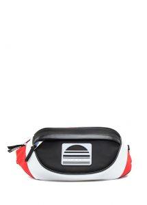 Siyah beyaz bel çantası
