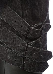 Kadın siyah denim ceket