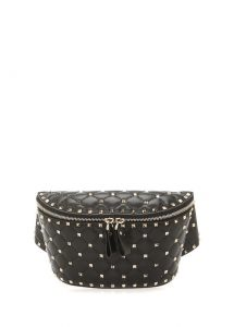 siyah deri bel çantası