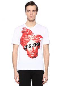 Versace erkek logolu beyaz tişört