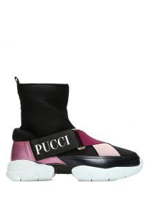pucci logolu siyah çorap sneaker