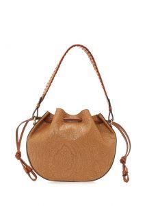 Etro kahverengi desenli torba çanta