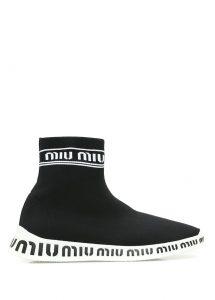 miu miu çorap sneaker siyah