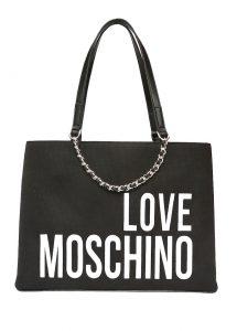 Moschino siyah logolu kadın çanta