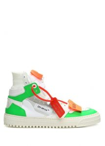 Yeşil boğazlı sneaker