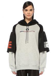 Kadın logolu sweatshirt