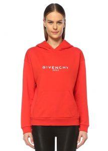 Givenchy kadın kırmızı sweatshirt