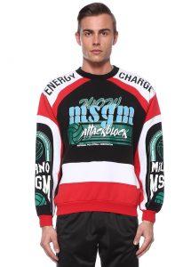MSGM erkek logolu sweatshirt