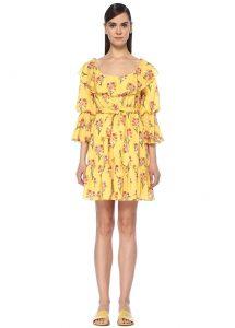 sarı plaj elbisesi