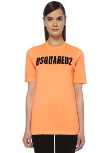 turuncu dsquared2 tişört