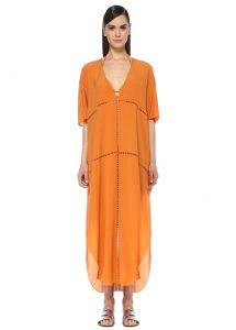 turuncu plaj elbisesi