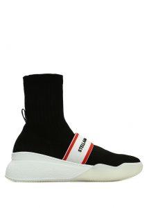stella mccartney siyah logo bantlı kadın çorap formlu sneaker