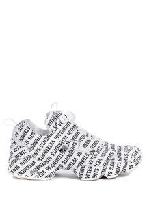 VETEMENTS Monogram Beyaz Siyah Logo Baskılı Erkek Sneaker