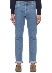 BRUNELLO CUCINELLI Skinny Fit Mavi Logolu Jean Pantolon