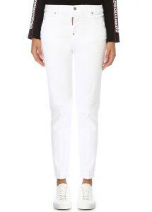 DSQUARED2 Cool Girl Beyaz Dar Paça Jean Pantolon