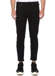 NEIL BARRETT Skinny Fit Siyah Dekoratif Dikişli Jean Pantolon