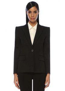 GIVENCHY Slim Fit Siyah Kırlangıç Yaka Yün Ceket