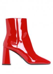 PRADA Kırmızı Kadın Rugan Bot