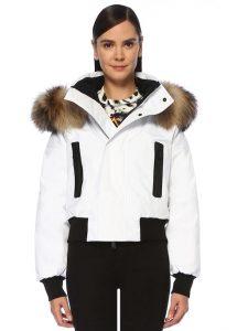 dsuared siyah beyaz kadın kayak montu
