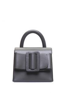 boyy bag antrasit kemer detaylı kadın deri el çantası
