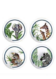 fernco 4lü serengeti collection the wild mix küçük tabak