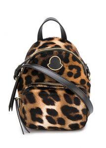 mocnler mini kilia leopar desenli kadın sırt çantası