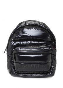 dsquared2 siyah logolu erkek puff sırt çantası
