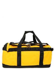 the north face base camp medium sarı logolu erkek seyahat çantası