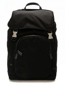 prada siyah ağzı büzgülü erkek sırt çantası