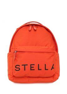 stella mccartney turuncu logolu kadın sırt çantası