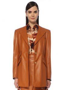 Kırlangıç Yaka Suni Blazer Ceket