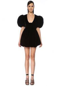 Siyah Kare Balon Elbise